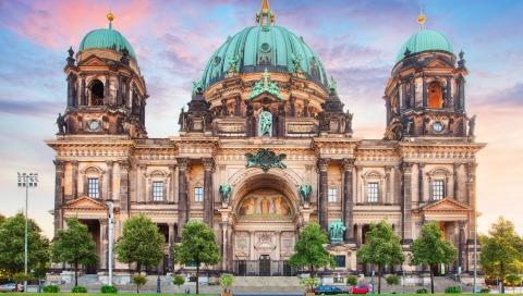 berlin-germaniia-hdr-khram-dvorets-kupola-arkhitektura-derev