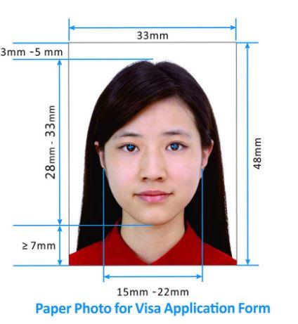 новые требования к фото визы в Китай 2017